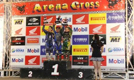Pódio da categoria 50 na etapa do Arenacross em Goiânia