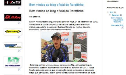 Campeão Gaúcho de Motocross lança blog oficial