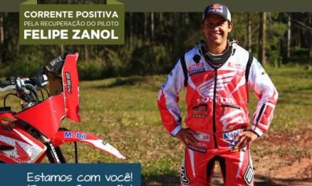 Felipe Zanol já está fazendo fisioterapia