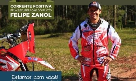 Piloto Felipe Zanol chegou hoje ao Brasil