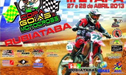 Rubiataba recebe a Copa Goiás de Motocross domingo