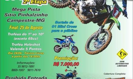 Cartaz Oficial - 2ª Etapa da Copa Campestre  Motocross