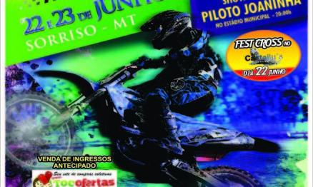 Programação do Brasileiro de Motocross em Sorriso