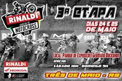 Rinaldi Gaúcho de Motocross: 3ª etapa é neste fim de semana