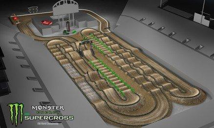 Vídeo – Volta virtual AMA Supercross em Las Vegas
