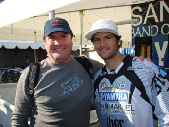 Jorge Soares com Chad Reed, um dos pilotos que mais admirava