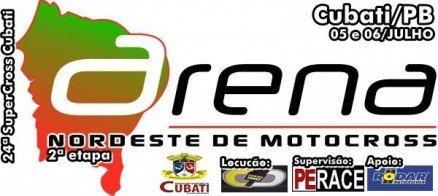 Cubati – PB recebe a segunda etapa do Arena Nordeste de Motocross