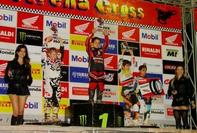 Pódium da 50cc com Diogo no 1º lugar