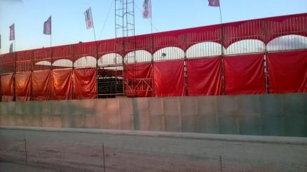 2º dia (08/08/2014) – Estrutura de arquibancada pronta, esperando pelo público de amanhã