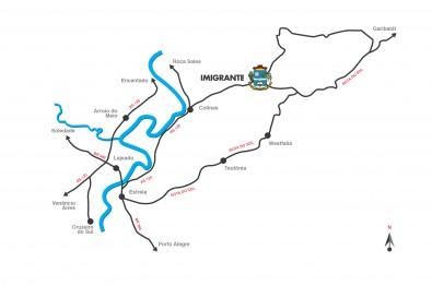 Veja como chegar em Imigrante local da 5ª etapa do Veloterra Regional