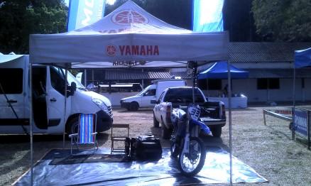 A base de operações de Raul Guilherme, Moto X Yamaha, na 6a etapa do Brasileiro de Motocross