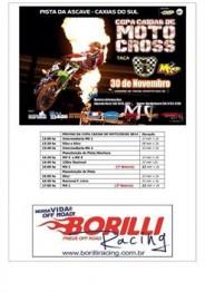 Líder MX de Motocross divulga programação
