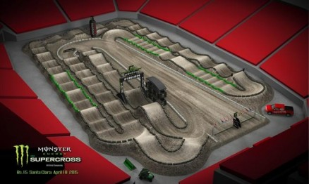 Vídeo – Volta virtual AMA Supercross 2015 em Santa Clara