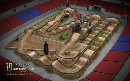 Volta virtual AMA Supercross 2017 em St Louis