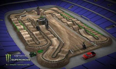 Vídeo – Volta virtual AMA Supercross 2015 em Arlington
