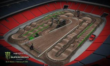 Vídeo – Volta virtual AMA Supercross 2015 em Atlanta