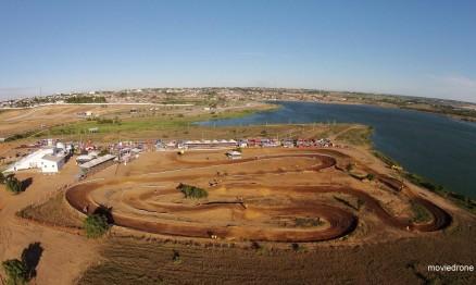 A pista às margens da Lagoa de Perucaba foi o palco do 2º Motocross da Redenção.