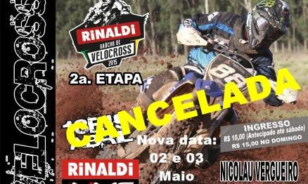 Devido as previsões de chuva FGM cancela segunda etapa do Rinaldi Gaúcho de Velocross