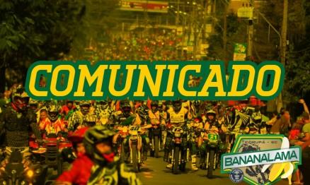 COMUNICADO OFICIAL: Cancelamento do Bananalama 2015