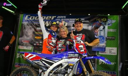 Cooper Webb é o mais novo campeão da Costa Oeste.
