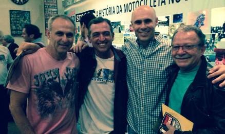 Santo Feltrin, Moronguinho, Nuno e  Antonio Siqueira em um evento realizado em Abril deste ano, o Encontro Motos Story, em São Paulo.