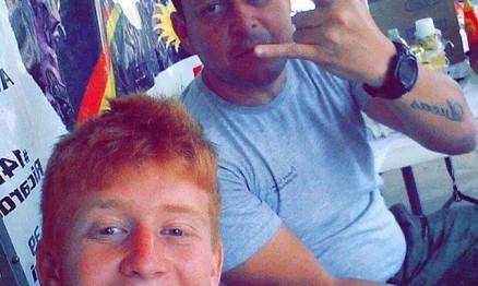 Vandinho e Anderson em uma etapa do brasileiro