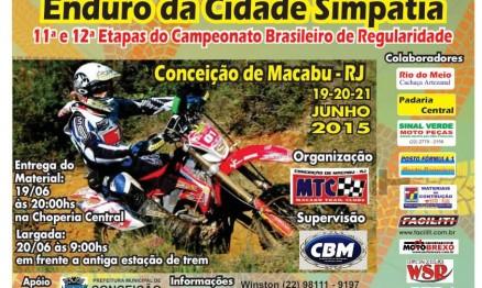 Rio de Janeiro receberá as 11ª e 12ª Etapas do BR de Enduro Regularidade