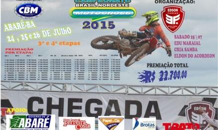 Abaré recebe etapa do Brasil Nordeste de Motocross