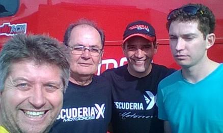 Sílvio Bilhar, Paulo e Duda Parise, Godinho antes de pegar a estrada.