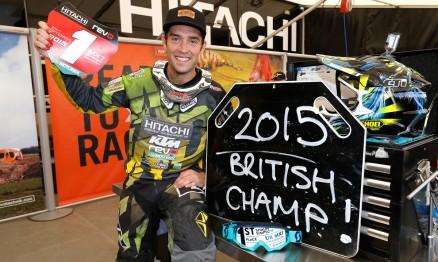 Shaun Simpson é campeão britânico de Motocross 2015