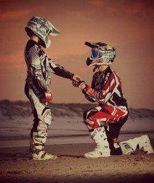 O amor está no ar no mundo do Motocross