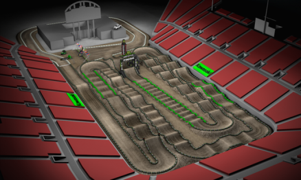 Volta virtual AMA Supercross 2016 em Las Vegas