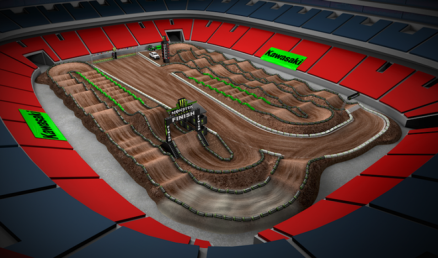 Volta virtual AMA Supercross 2016 em Atlanta