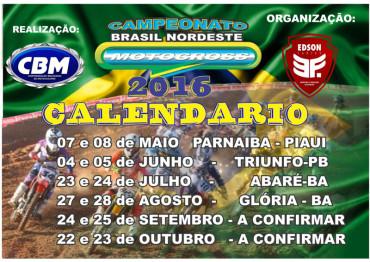 Confira o calendário do Brasil Nordeste de Motocross 2016