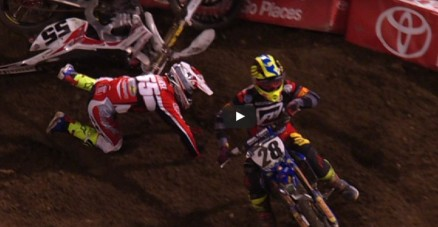 Vídeo Cassetada do AMA Supercross 2016 em Oakland