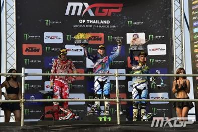 Pódio da MXGP na Tailândia