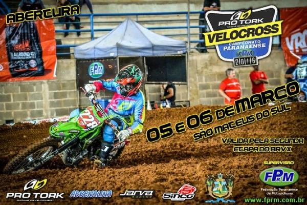Etapa do Brasileiro de Velocross será no PR neste fim de semana