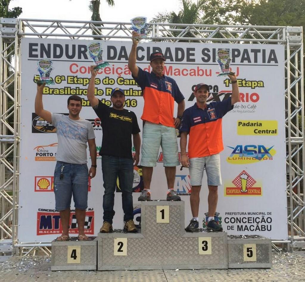 Jomar Grecco vence rodada do Brasileiro de Enduro Regularidade no RJ