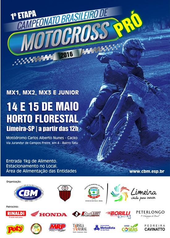 Inscrições abertas para abertura do Brasileiro de Motocross PRÓ
