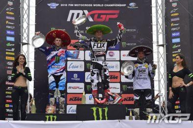 Pódio da MXGP no México