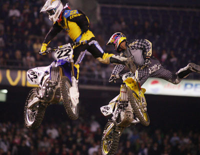 Chad Reed #22 e Travis Pastrana #199