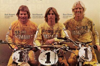Team Yamaha campeão de 1978 com Rick Burgett (500cc), Bob Hannah (250cc) e Broc Glover (125cc).