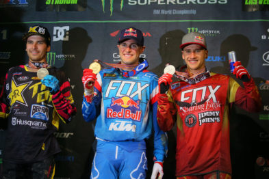 Pódio final do campeonato das 450SX 2016