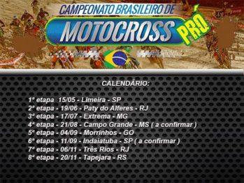 Calendário do Brasileiro de Motocross PRÓ é atualizado e poderá ter até oito etapas