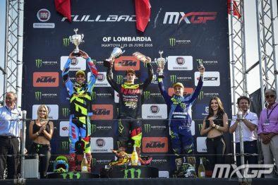 Pódio da MXGP no GP da Lombardia