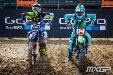 De carona com Guillod e Lancelot na 10a etapa do Mundial de Motocross na França