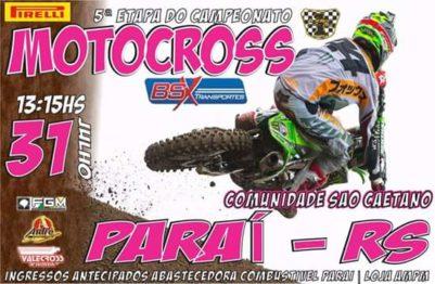 Chegou a vez de Paraí receber a Copa BSX de Motocross