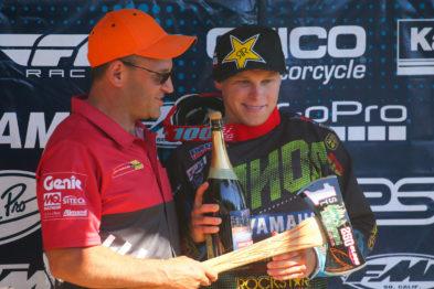 Alex Martin nó pódio das 250MX em Washougal