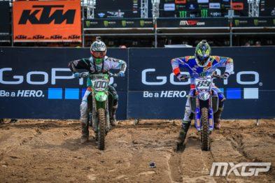 De carona com Jeremy Van Horebeek e Tommy Searle na 14a etapa do Mundial de Motocross