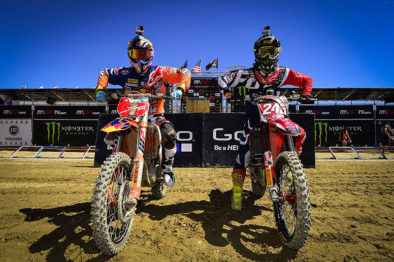 De carona com Jeffrey Herlings e Tim Gajser na 18a etapa do Mundial de Motocross